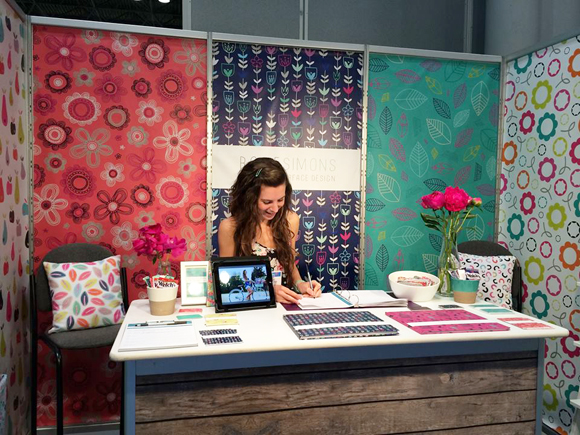 Rosie Simons - Surtex 2014 - Working Hard