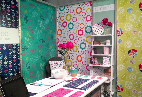 Rosie Simons - Surtex 2014 - Booth Overview